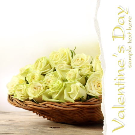 basket full of yellow roses Stock Photo - 15734277