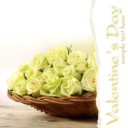 basket full of yellow roses Stock Photo - 15734277