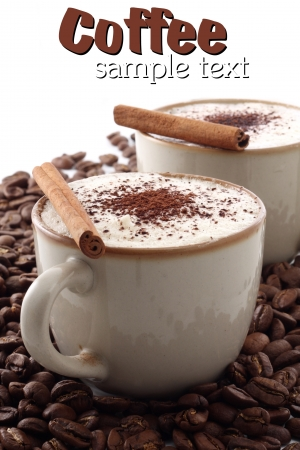 cappucino with cinnamon photo