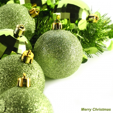 christmas baubles photo