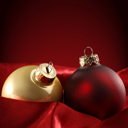 red and gold baubles  photo