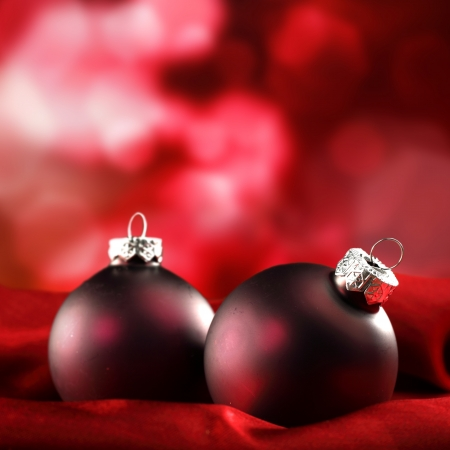 two red baubles  photo