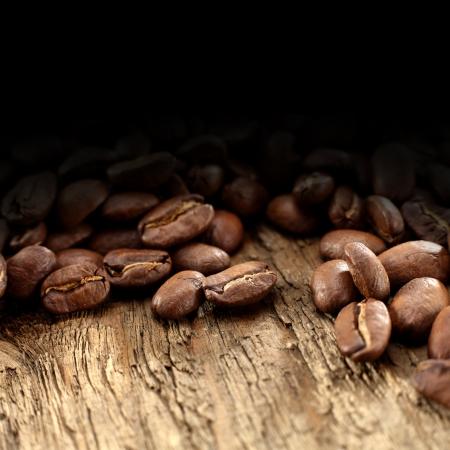 rustic coffee beans
