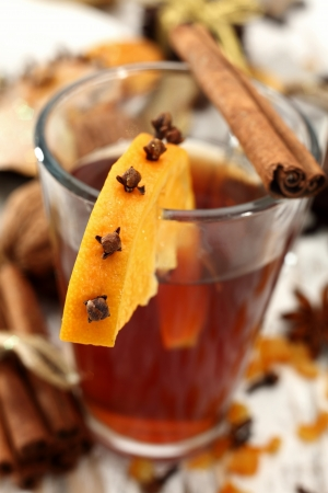 tea with orange and clove photo
