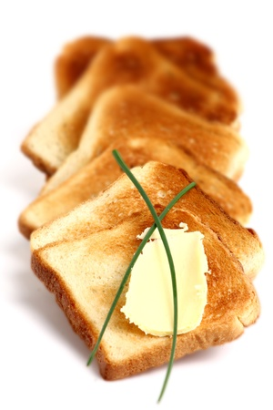 toasted bread with butter photo