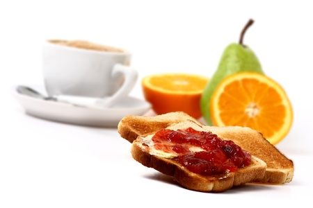 toast, fruits and coffee Stock Photo - 16842721