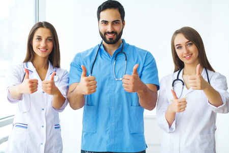 Team or group of doctors working