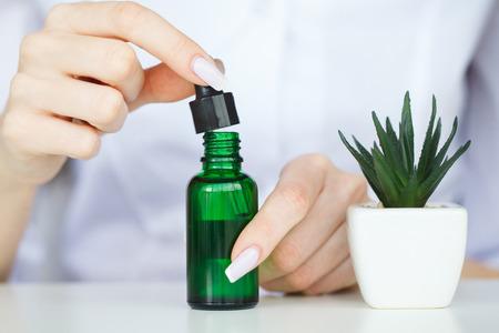 Medicine. Natural Organic Medicine and Healthcare, Alternative Plant Medicine, Mortar and Herbal Extraction in Laboratory Glassware