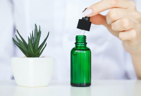 Skin care. Cosmetic science holistic plant lab organic skin.