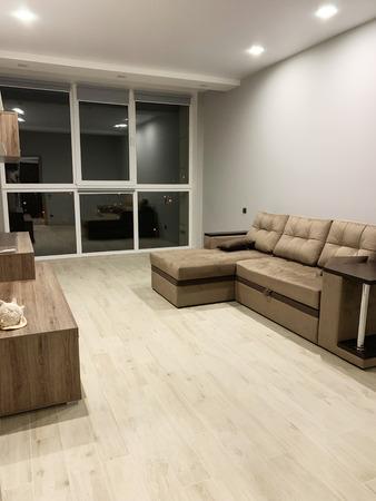 Large modern luxury living room interior in home 写真素材