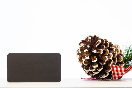 Christmas Pine cone and blank with place for text