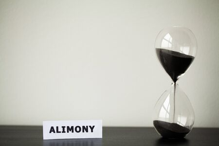 Alimony payment concept. Schedule of payment for childcare