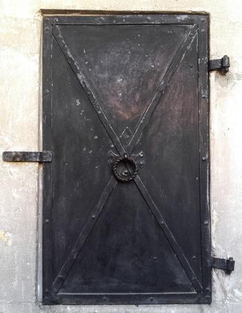 Castle old metal door, ancient, medieval, texture Stock Photo