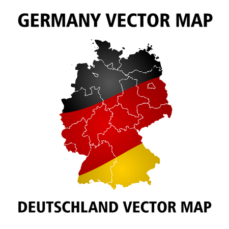Germany vector map. Colors of national flag