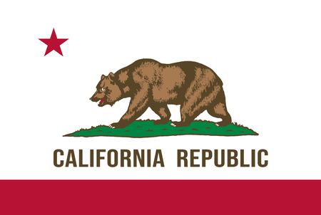 Bandiera dello stato della California. Illustrazione vettoriale Vettoriali
