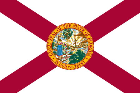 Florida state flag. Vector illustration Vettoriali