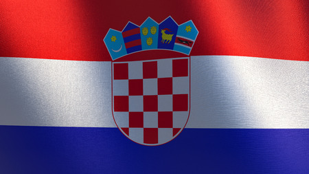 Waving flag of Croatia. 3d illustration