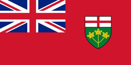 Vector flag of Ontario, province of Canada. Toronto