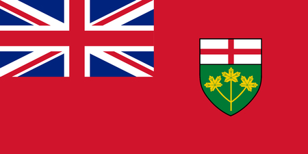 Vector flag of Ontario, province of Canada. Toronto