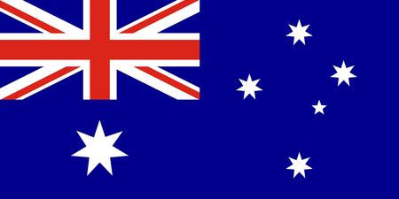 Australian vector flag. Union Jack with stars