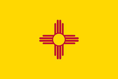 Vector flag illustration of New Mexico state, United States of America Ilustracja