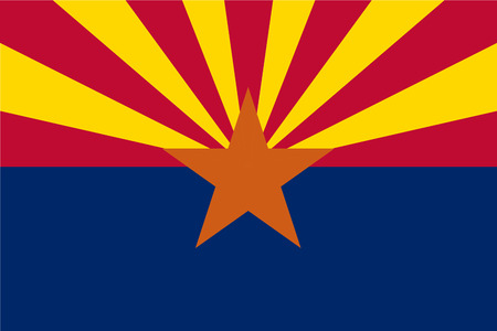 Vector flag of Arizona state, United States of America.  イラスト・ベクター素材