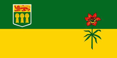 Vector flag of Saskatchewan province Canada. Saskatoon, Regina