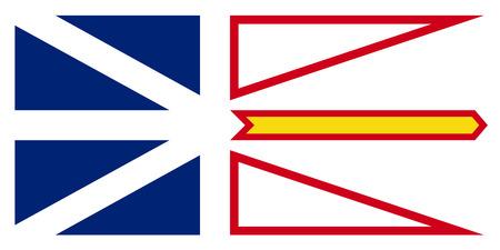 Vector flag of Newfoundland and Labrador Canada.St. Johns