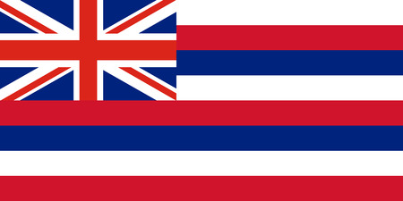 Vector flag of Hawaii state. United States of America