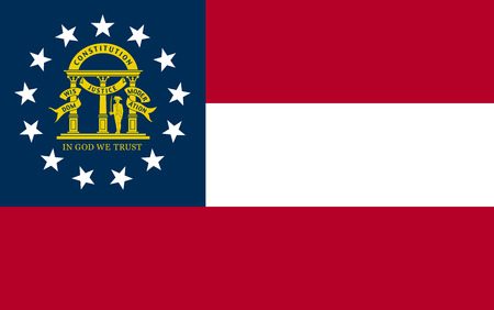 Vector flag of Georgia state. United States of America