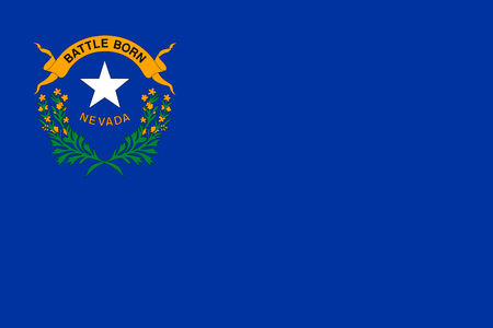 Vector flag of Nevada state. United States of America.