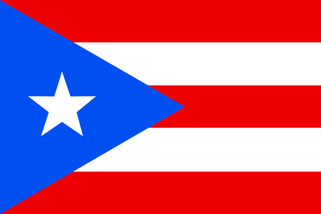 Flag of Puerto Rico. Commonwealth of Puerto Rico United States of America