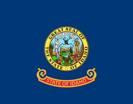 State of Idaho vector flag. Vector illustration. United States of America.  イラスト・ベクター素材