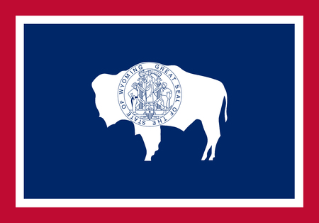Wyoming vector flag. Vector illustration. United States of America. 일러스트