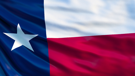 Texas  state flag. Waving flag of Texas  state, United States of America. Foto de archivo - 116779215