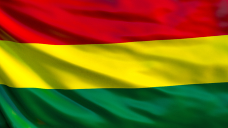 Bolivia flag. Waving flag of Bolivia 3d illustration. La Paz Imagens - 116779270