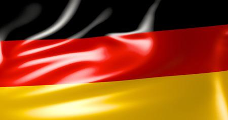 Germany flag in the wind. 3d illustration. Berlin, Hamburg, Dortmund, Munich, Cologne, Frankfurt Archivio Fotografico - 116051569