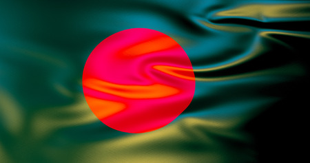 Bangladesh flag in the wind. 3d illustration. Dhaka 스톡 콘텐츠