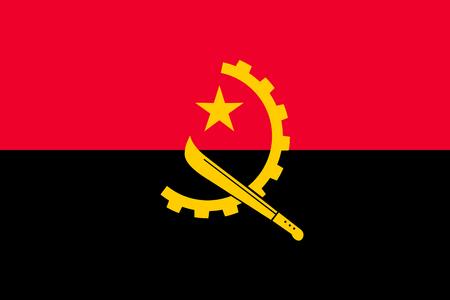 Drapeau national de l'Angola. Illustration vectorielle. Luanda Vecteurs