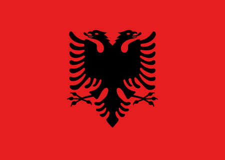 Albania national flag. Vector illustration. Tirana Vektorové ilustrace