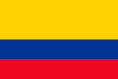 The flag of Colombia. Correct vector illustration of official Colombian flag. Bogota