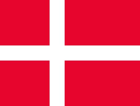 The flag of Denmark. Banner with a white on red cross. Copenhagen. Scandinavia