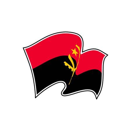 Vector flag of Angola. Angola national flag. Vector illustration. Luanda Vetores