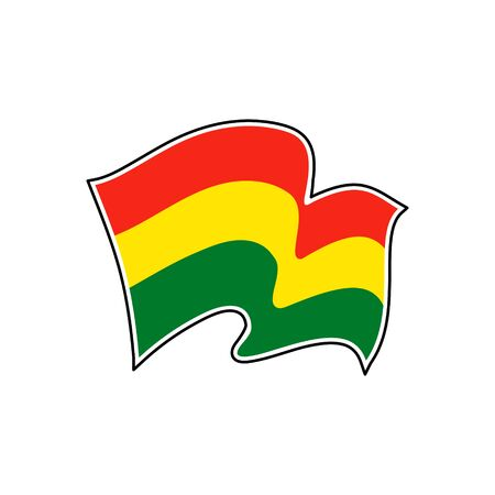 Vector flag of  Bolivia. Bolivia national flag. Vector illustration. La Paz
