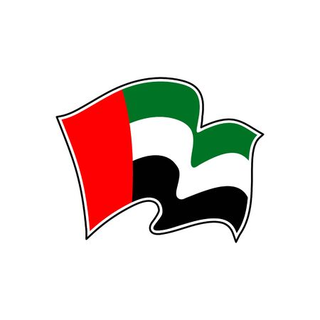 Vector flag of United Arab Emirates. United Arab Emirates vector flag. Abu Dhabi Illustration