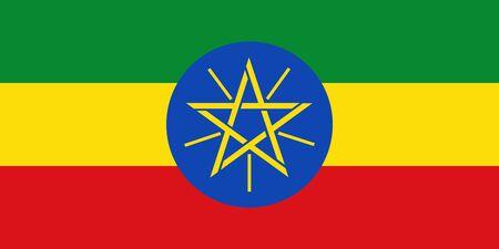 Flag of Ethiopia.  Ethiopia vector flag. National symbol of Ethiopia