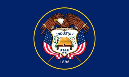 The flag of State of Utah. United States of America. Vector illustration. Salt Lake City 向量圖像