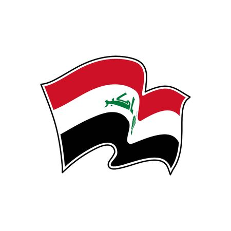 Flag of Iraq. Iraq vector flag. National symbol of Iraq