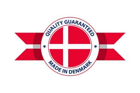Made in Denmark quality stamp. Vector illustration. Copenhagen