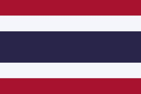 Thailand vector flag. The flag of Kingdom of Thailand. Trairanga. Bangkok